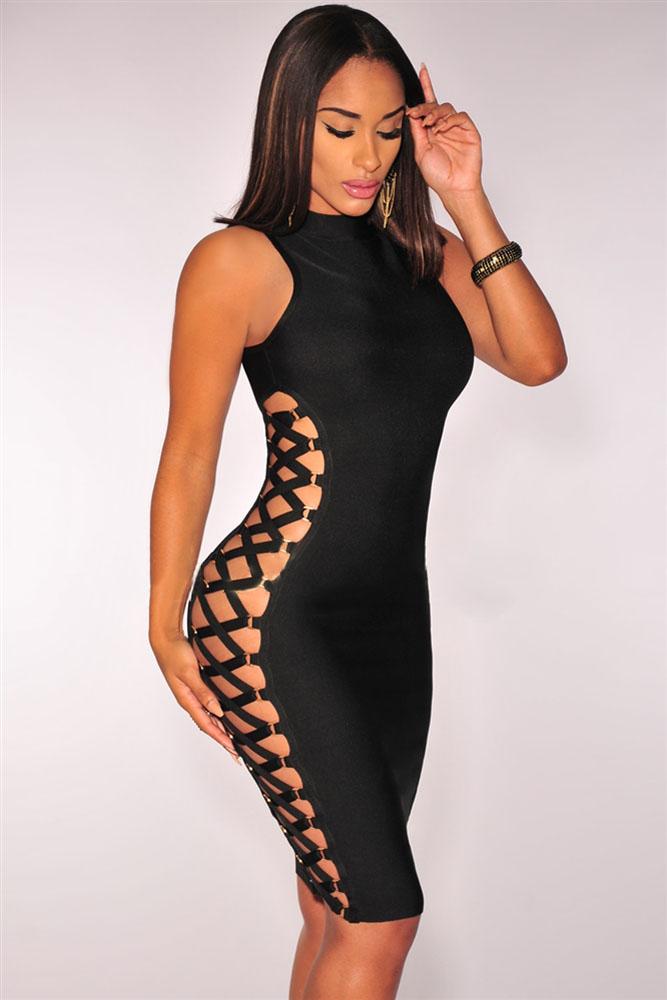 Black Lace up Contour