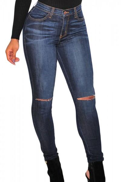 Dark Ripped Knee Skinny Jeans