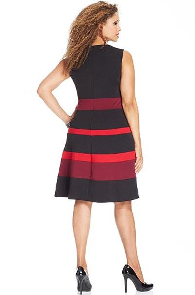 Plus Size Sleeveless Ponte-Knit A-Line Dress – Charming Wear