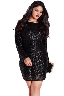 Sequin Mesh Mini Dress