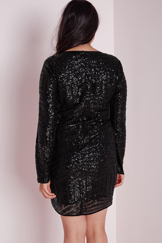 Sequin Mesh Mini Dress