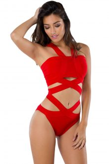 Red Bandage Bodysuit