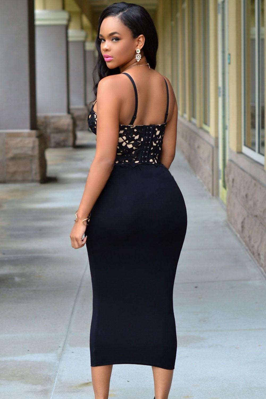 Bustier Lace Bodycon Dress