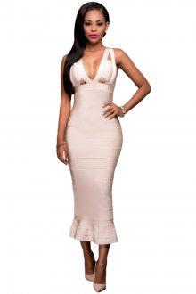 Apricot Fishtail Luxe Dress