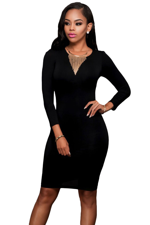 Long Sleeves Bodycon Dress
