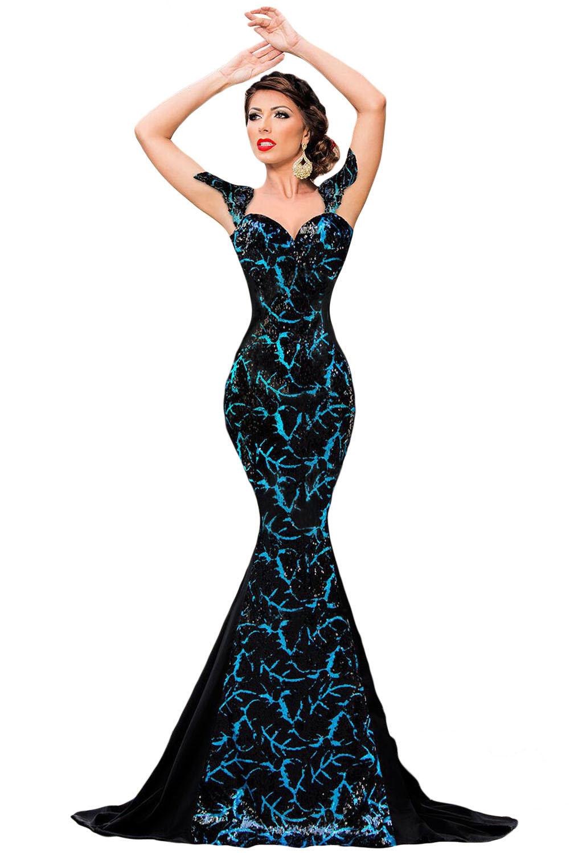Elegant Black Sequin Dresses