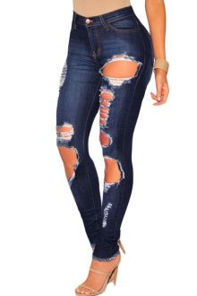 Dark destroyed Skinny Jeans