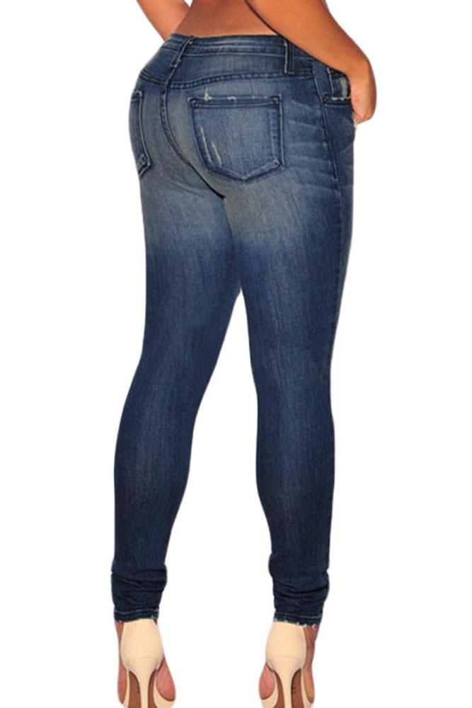 Dark Sandblast Skinny Jeans