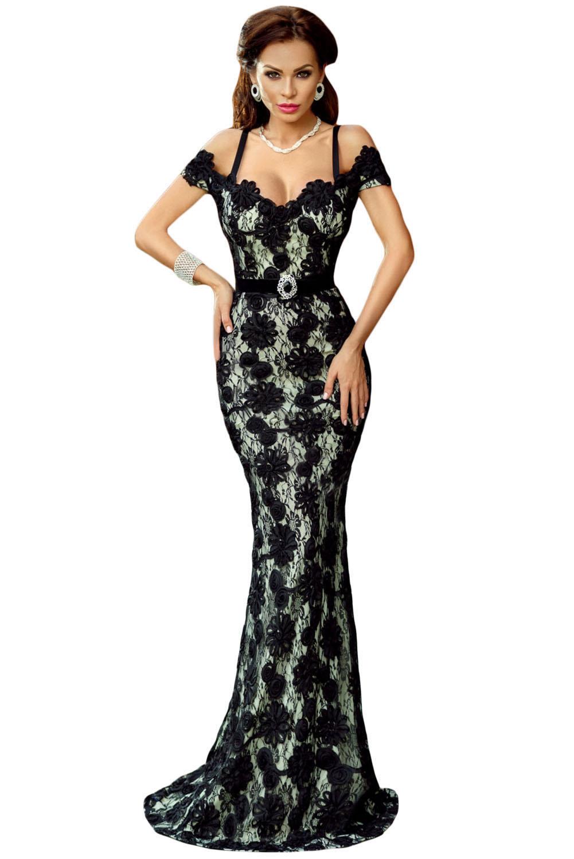 Spaghetti Strap Black Lace Crochet | Charming Wear
