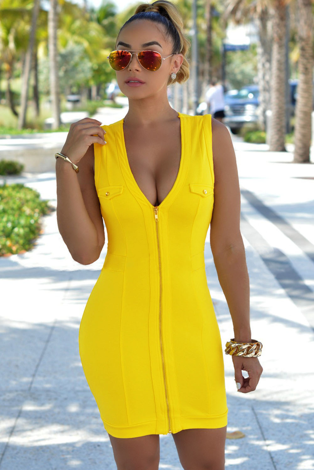 Sleeveless Tank Sheath Dress