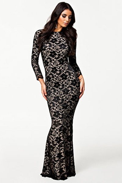 Fully Lined Lace Evening Dress