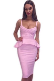 2 Pieces Bandage Skirt Set