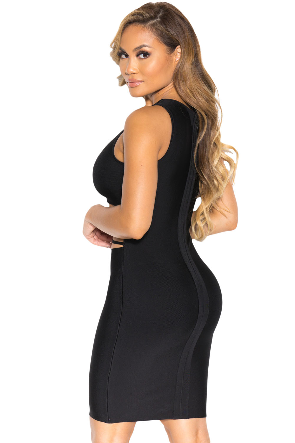 Sexy Little Black Party Bandage Dress  Charming Wear-8916