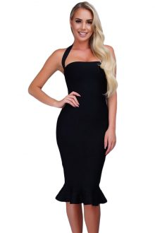Halter Mermaid Bandage Dress