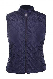 Blue Cotton Quilted Vest Coat
