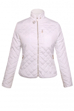 White Cotton Quilted Jacket