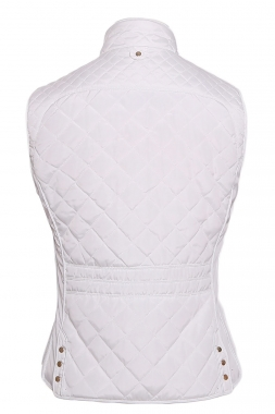 White Cotton Quilted Vest Coat