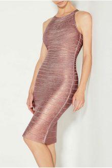 Halter Sleeveless Pink Foil Printing Bandage