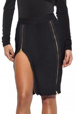 6c26093ef5 Product Description. Black Cross Bust Bandage Dress. $112.50. Burgundy  Double Zip Slit High .
