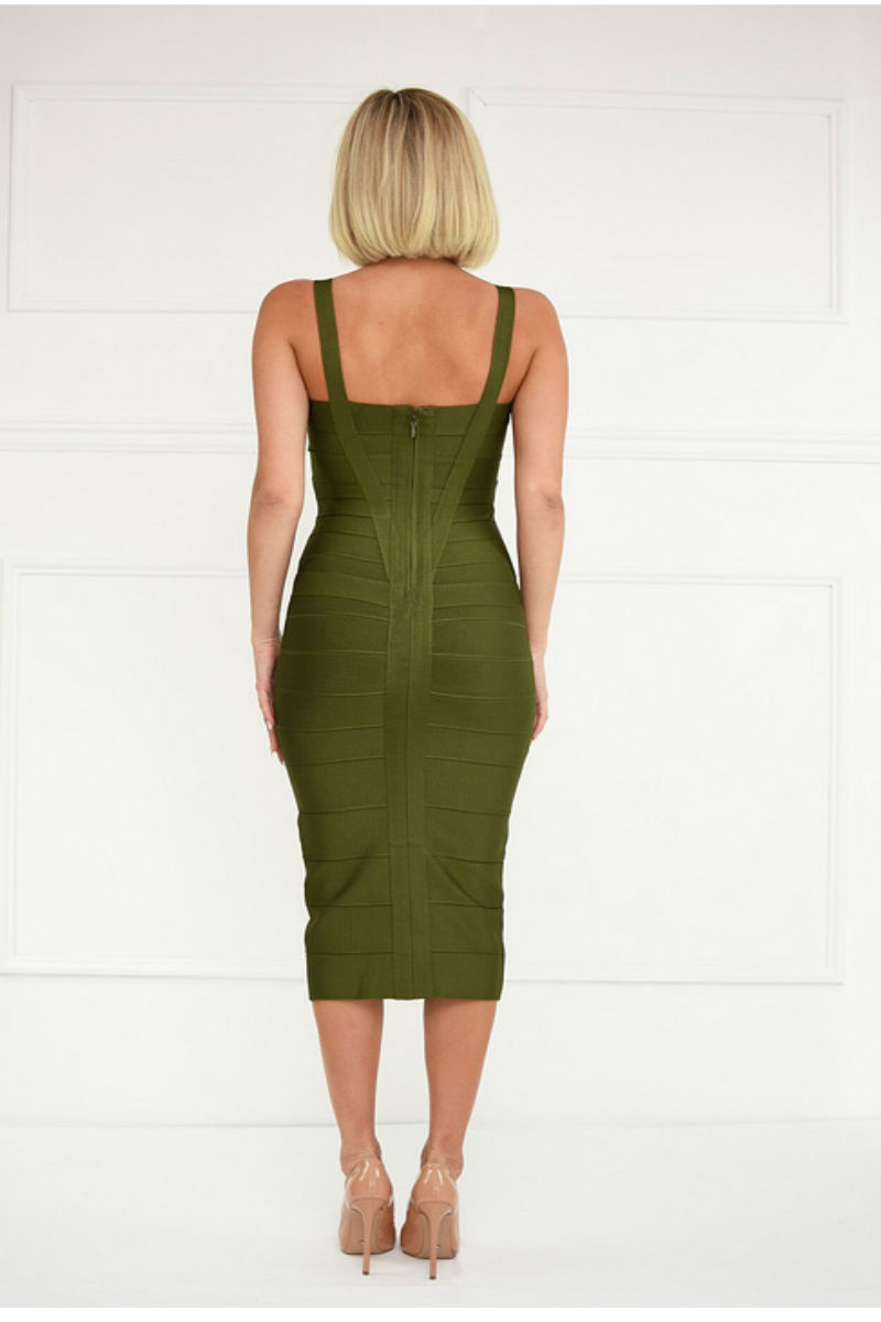 Green Bandage Midi Dress
