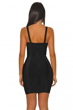 Black Bustier Sheath Bandage Dress