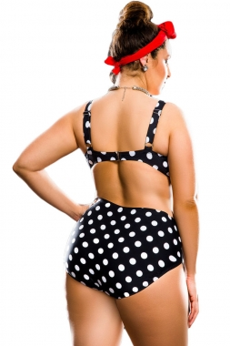 Polka Dot High Waist Bikini Swimsuit