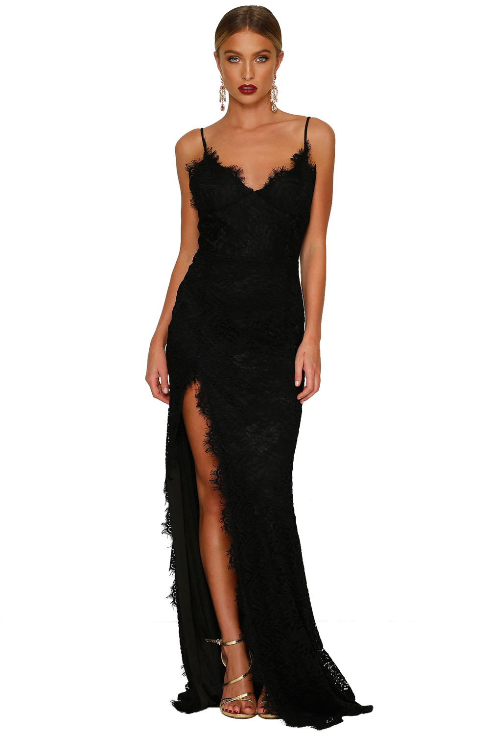 Black Yum Lacy Lace Bridal Wedding Gown