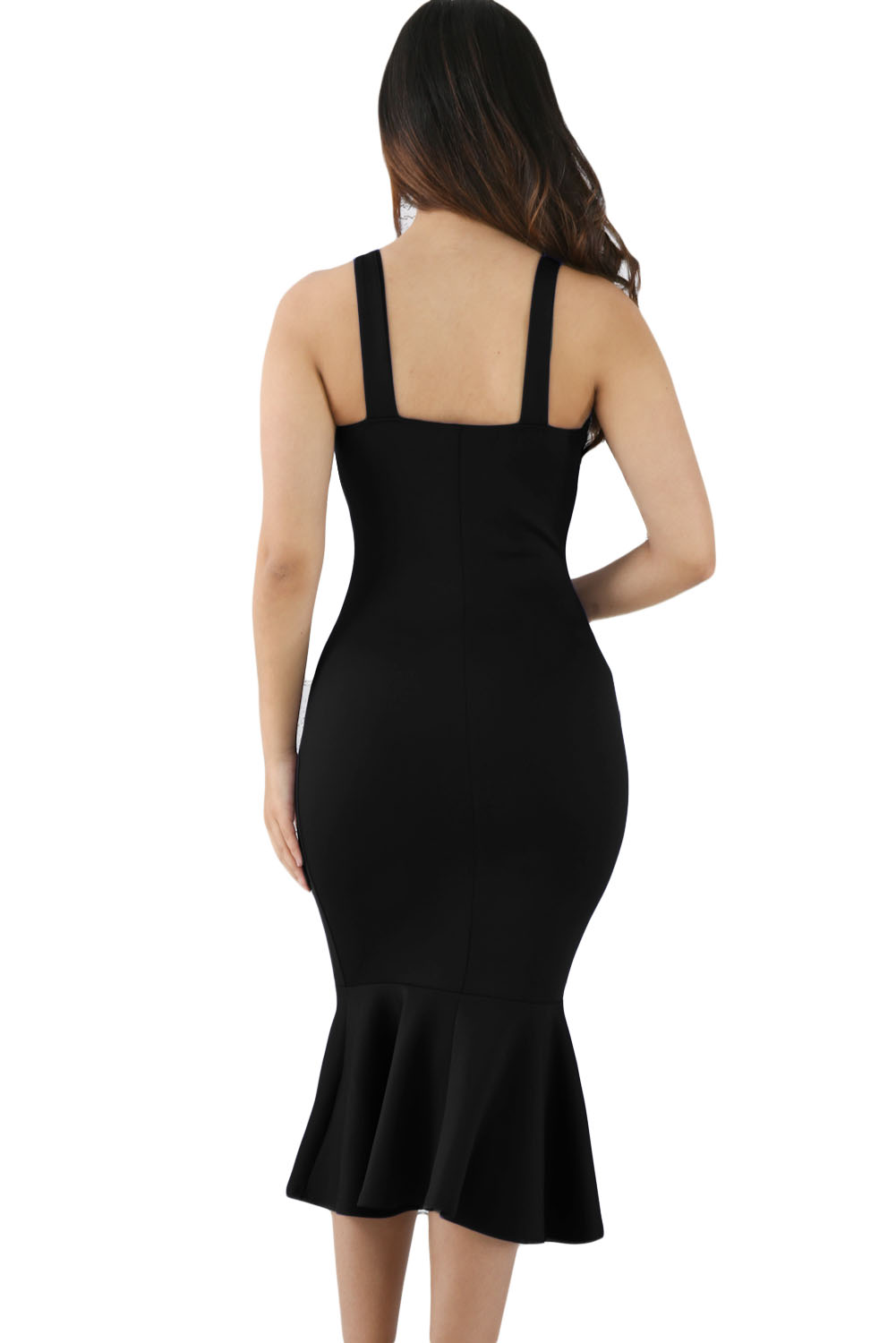 Black Elegant Mermaid Bodycon Dress