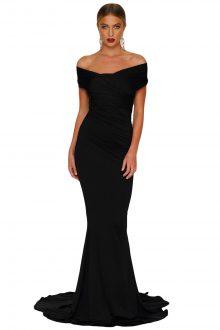 Black Off-shoulder Mermaid Wedding Party Gown