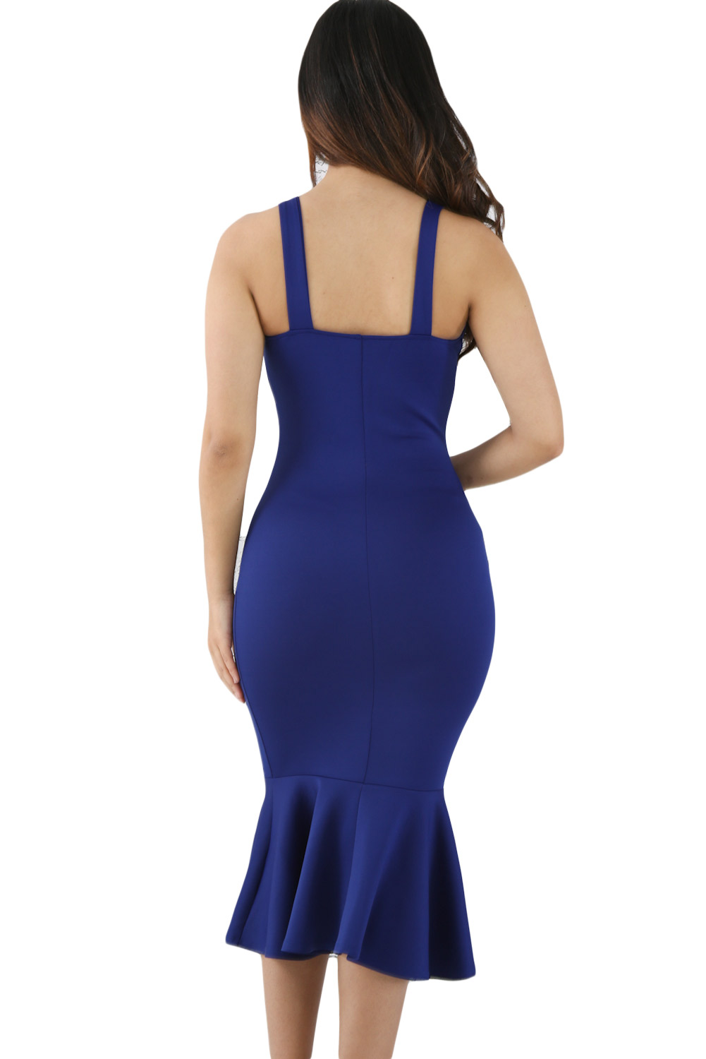 Blue Elegant Mermaid Bodycon Dress