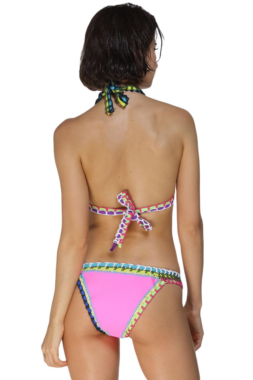 Pink Handmade Crotchet Neoprene Latex Bathing Suit