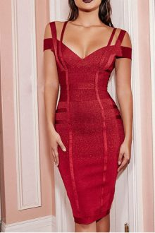 Red Strappy Bandage Dress c8d52bcf0
