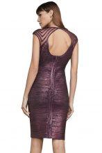 Purple foiled Bandage Dress
