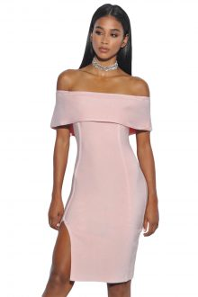 Off Shoulder Overlay Bandage Dress