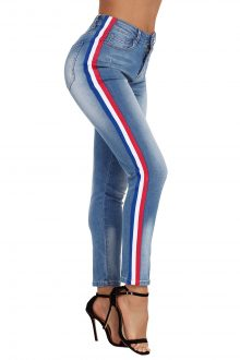 Rainbow Side Striped Jeans