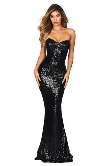SPELLBOUND STRAPLESS GOWN